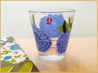 marimekko×iittala/タンブラー/Primavera/blue�/ヴィンテージ