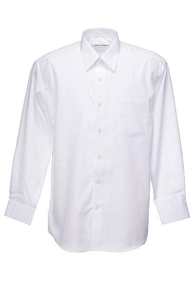 メンズ 長袖白Yシャツ - 三光白...