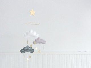 【 the butter flying 】 雲のモビール GOLD  SHINTO  【ザ バター フライング】 インテリア クラウドモビール インポート雑貨 子供部屋 ベビー雑貨