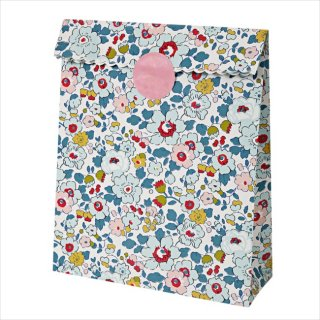 SALE◆【Meri Meri】リバティー betsy ペーパーバッグ ブルー 10枚入り 紙袋 小花柄 Liberty print 春 プレゼント ギフト(45-2207)