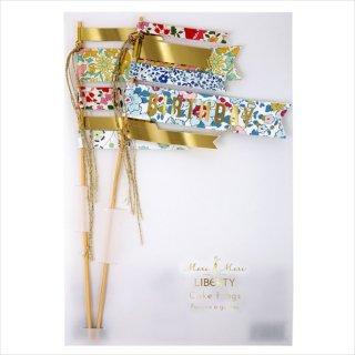 【Meri Meri】リバティー ケーキフラッグ BIRTHDAY 花柄 小花柄 Liberty print パーティー 誕生日 デコレーション ケーキ(45-2252)