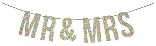 【Meri Meri】リバティー柄 MR&MRSガーランド poppy & daisy  花柄 小花柄 Liberty print パーティー アルファベット(45-2190)