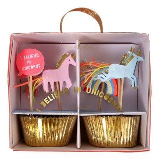 【Meri Meri】ユニコーンのカップケーキKIT 24本入り【パーティー イベント ホームパーティー 誕生日 ファーストバースデー ケーキ お菓子作り】(45-2311)