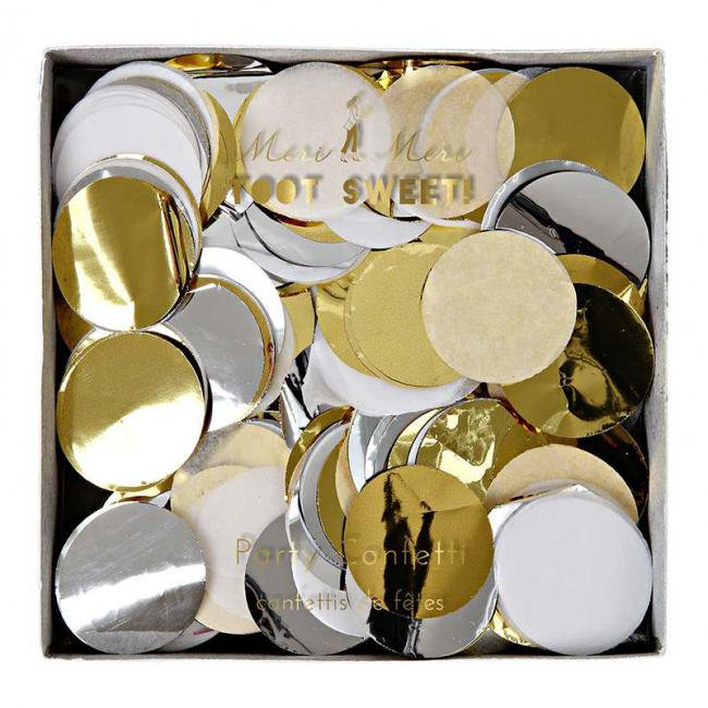 【meri meri メリメリ】メタリックカラーコンフェッティ 紙ふぶき 【パーティー イベント ホームパーティー 誕生日 ファーストバースデー 結婚式 ウェディング】(45-210…