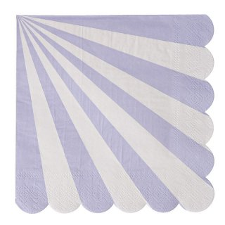 【Meri Meri】ペーパーナプキン ラベンダー 20枚入り【Toot Sweet Lavender Large】しましま パーティー用 紙ナプキン(45-2123)