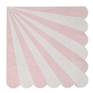 【Meri Meri】ペーパーナプキン ダスティーピンク 20枚入り【Toot Sweet Pink Large】しましま パーティー用 紙ナプキン ペーパータオル (45-2118)