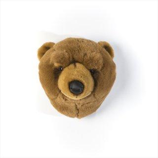 【Wild&Soft ワイルドソフト】ぬいぐるみ アニマルヘッド ブラウン クマ 熊 くま【Animal Head Brown Bear 】壁掛け プレゼント【こども部屋 リビングに】