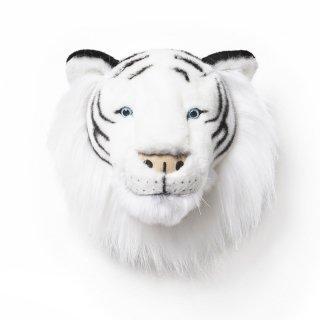 【Wild&Soft ワイルドソフト】ぬいぐるみ アニマルヘッド ホワイトタイガー 【Animal Head White tiger】壁掛け インテリア プレゼント【こども部屋 リビングに】