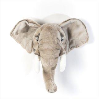 【Wild&Soft ワイルドソフト】ぬいぐるみ アニマルヘッド エレファント ゾウ  【Animal Head Elephant】壁掛け プレゼント【こども部屋 リビングに】