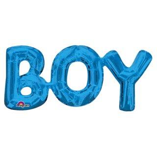 SALE◆【フィルム風船】BOY バルーン バースデイ 誕生日 パーティー ブルー 装飾 フォトプロップ 装飾に 空気専用 撮影 ※ヘリウムガス非対応【メール便発送可能】