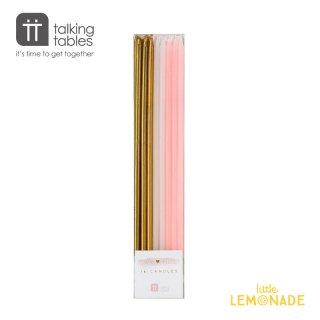 Talking Tables(トーキングテーブル)】ロング キャンドルセット/ピンク・ホワイト・ゴールド( PINK-CANDLE)