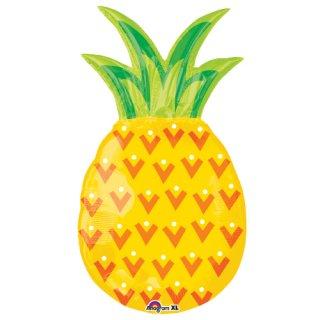 【フィルム風船】ガス無し【パイナップル】サマーパーティーの演出に pinapple フルーツのバルーン【パーティー バルーンデコレーション】【メール便発送可能】 バースデイ・ギフトに