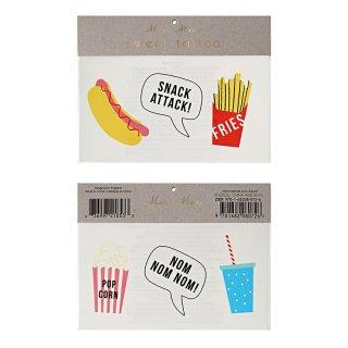 【Meri Meri メリメリ】タトゥーシール スナック フード 食べ物 ポテト 2枚入り かわいい 文字 アルファベット【フラッシュタトゥー ジュエリータトゥー 】(45-2268)