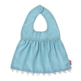 【niva】nivaのおでかけスタイ☆Shiny dress(シャイニードレス)/グリーン おしゃれスタイ よだれかけ ピブ 男の子 女の子 コットン 赤ちゃん 出産祝い お祝い ベビー(163)