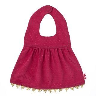【niva】nivaのおでかけスタイ☆Shiny dress(シャイニードレス)/ピンク おしゃれスタイ よだれかけ ピブ 男の子 女の子 コットン 赤ちゃん 出産祝い お祝い ベビー(163)