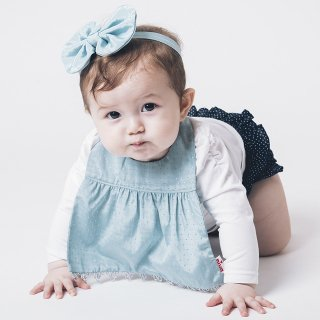 【niva】nivaのおしゃれヘアアクセサリー☆Shiny ribbon hair band/グリーン ヘアバンド 赤ちゃん ベビー 出産祝い お祝い ギフト プレゼント(182)