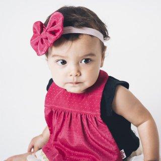 【niva】nivaのおしゃれヘアアクセサリー☆Shiny ribbon hair band/ピンク ヘアバンド 赤ちゃん ベビー 出産祝い お祝い ギフト プレゼント(182)