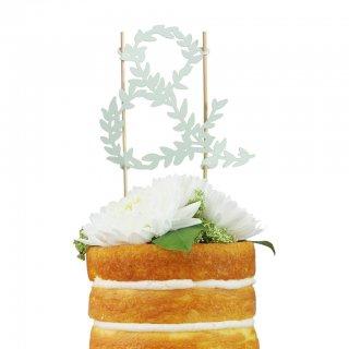 【Alexis Mattox Design】ウェディング ケーキトッパー「&」紙製【ケーキ用飾り】cake topper