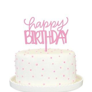 【Alexis Mattox Design】ケーキトッパー HAPPY BIRTHDAY ピンク 【ケーキ用飾り】cake topper ハッピーバースデイ メール便可(PCT03-P)