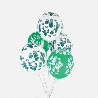 【my little day マイリトルデイ】サボテン ゴム風船 5枚入り【カクタス 夏 ホームパーティー パーティー 誕生日 お祝い バルーン balloon summer アウトドア BBQ】