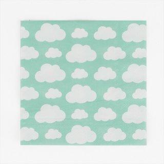 【my little day マイリトルデイ】雲柄 ペーパーナプキン 20枚入り 【clouds 雲 くも 夏 ホームパーティー パーティー 誕生日 お祝い 紙ナプキン summerベビーシャワー】