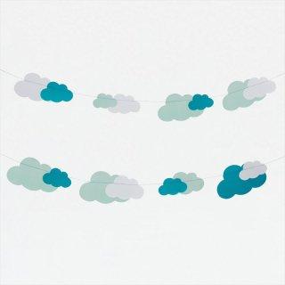 【my little day マイリトルデイ】雲柄 クラウド柄 ガーランド ペーパーガーランド バナー clouds 雲 くも 夏  パーティー 誕生日 ◆SALE