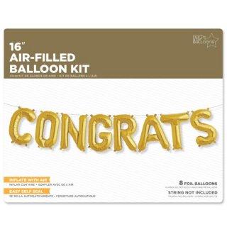 フィルムレターバルーンCONGRATS コングラッツ ゴールド 【バルーン balloon 風船 結婚式 ウェディング お祝い 誕生日 バースデイ 】(NSB01220)