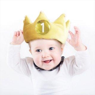 ソフトメモリアルクラウン/マスタードイエロー 【ハーフバースデー ファーストバースデー お誕生日 クラウン 王冠 ベビー 】(BDZ-27-01)