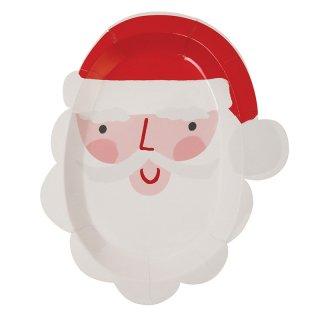 【Meri Meri】サンタクロース フェイスプレート ダイカット スモールサイズ 12枚入りペーパープレート【Christmas クリスマス Xmas クリスマスパーティー】(45-2930)