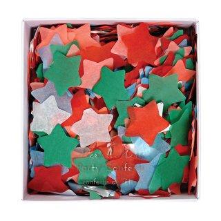 【Meri Meri】クリスマスカラーのお星さまのカタチをしたコンフェッティ【紙吹雪 レッド グリーン クリアバルーンに入れてバルーンコンフェッティにしても】(45-2356)