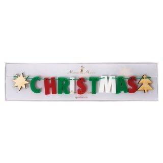 【Meri Meri】クリスマスカラー アクリル板ガーランド CHRISTMAS ミニサイズ(45-2371)