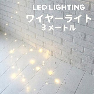 LED ワイヤーライト 5メートル【メール便可】【デコレーション ジュエリーライト イルミネーションライト】