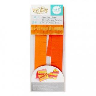 フリンジテープ/シトラス ORANGE【ピニャータ作りに最適、ミニサイズのフリンジテープ オレンジ DIY】(660212)
