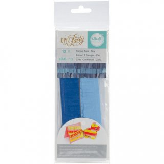 フリンジテープ/スカイ  BLUE【ピニャータ作りに最適、ミニサイズのフリンジテープ 青系 ブルー DIY】(660211)