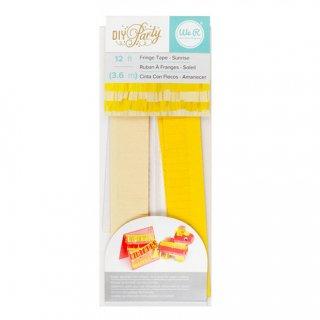 フリンジテープ/サンライズ YELLOW 黄色【ピニャータ作りに最適、ミニサイズのフリンジテープ イエロー DIY】(660804)