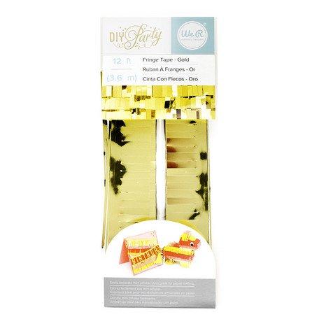 フリンジテープ/ゴールド【ピニャータ作りに最適、ミニサイズのフリンジテープ GOLD DIY】(660771)