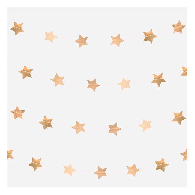 【my little day】フォイルガーランド ゴールドスター【お誕生日 バースデイ 1st ベビーシャワー クリスマス】ホイル素材のお星さまガーランド(MD141)