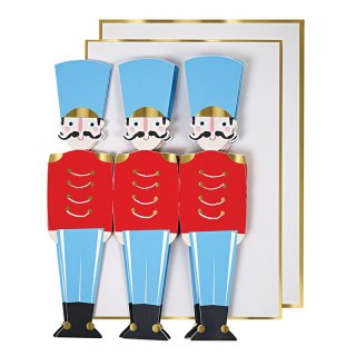 【Meri Meri】くるみ割り人形 兵士デザインのクリスマスカード【クリスマス ギフトカード グリーティングカード 文具 ステーショナリー】(48-0048)
