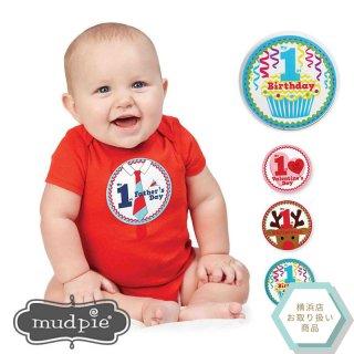 【Mud Pie】1歳の初めて記念ステッカーセット【12か月分のイベントのステッカー】(1002008)