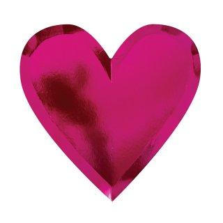 【Meri Meri メリメリ】ハートダイカットパーティープレート ハートのカタチのペーパープレート ピンク 8枚入り【バレンタイン 女の子 ひな祭り お祝い】(45-2561)