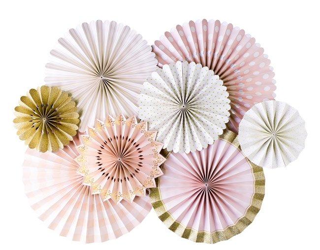 【my mind's eye マイマインズアイ】ピンク+ゴールド プリンセス パーティー ペーパーファンセット PRINCESS 【ホームパーティー】(PNP401)