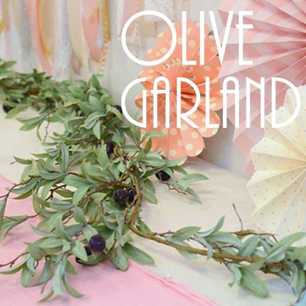 オリーブガーランド 【Olive Garland インテリア グリーン 観葉植物 フェイクグリーン ディスプレイ 模様替え】