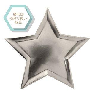 【Meri Meri メリメリ】シルバー スターのペーパープレート 8枚入りstar silver foil plate(45-2490)