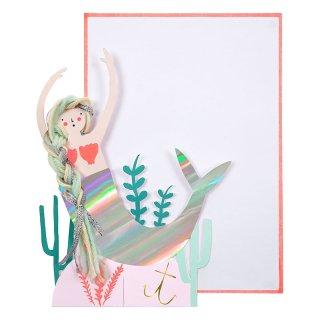 【MeriMeri メリメリ】人魚のグリーティングカード【カード 手紙 グリーティング マーメイド 人魚姫 夏 メッセージ 飾れる】(16-0200L)