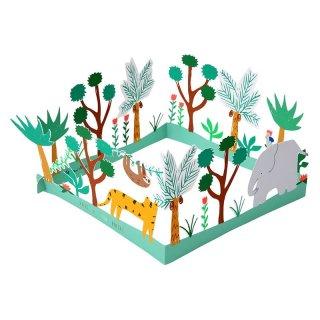 【MeriMeri メリメリ】HAPPY BIRTHDAY ジャングルのバースデイカード【カード 手紙 グリーティング 誕生日 メッセージ 飾れる】(16-0196H)