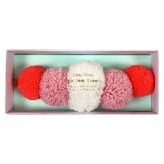 SALE◆【MeriMeri メリメリ】毛糸のポンポンのプリンセスクラウン【クラウン ティアラ 小物 カチューシャ】(50-0222)