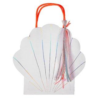 【Meri Meri メリメリ】貝殻デザインのペーパーバッグ 1枚【バッグ パーティーバッグ 紙 貝がら Shell マーメイド 人魚姫 プリンセス】(45-2776)