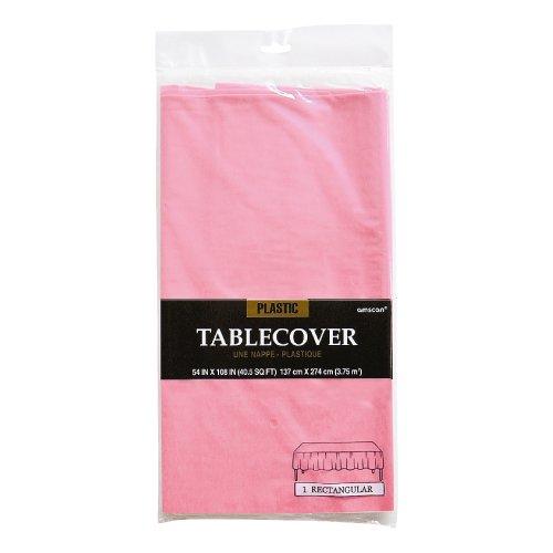 【テーブルクロス】使い捨てテーブルクロス 【ピンク】 プラスチック製 テーブルカバー お誕生日会パーティーのテーブルコーディネートに