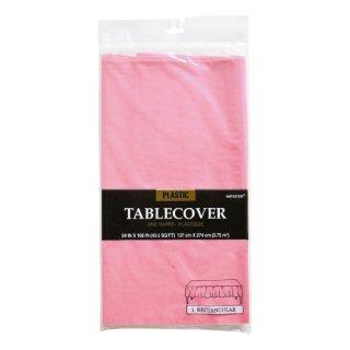 【amscan】【テーブルクロス】使い捨てテーブルクロス 【ピンク】 プラスチック製 テーブルカバー お誕生日会パーティーのテーブルコーディネートに