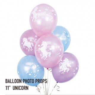 【6枚入り】ユニコーン柄 メルヘン ファンタジー パーティーバルーン【11インチ 28cm】【ゴム風船 バルーン 装飾 デコレーション パーティー 誕生日 バースデイ】